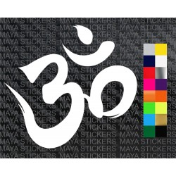 Om sticker in paint brush effect for cars, bikes, laptops, mobile