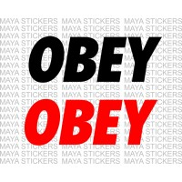 Obey logo decal stickers ( Pair of 2 )