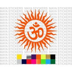 Om inside sun decal sticker for cars, bikes, laptops, helmets