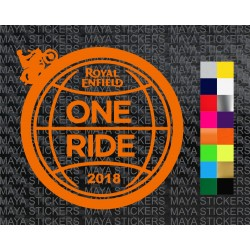 One ride 2018 logo sticker for royal enfield bikes