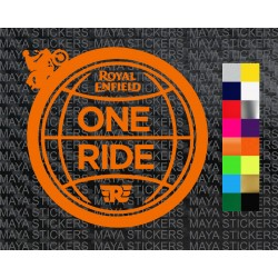 One ride globe design sticker  for royal enfield bikes