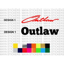 Outlaw decal stickers for cars, bikes, laptops