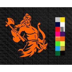Parshuram sticker  for cars, bikes, laptops, wall
