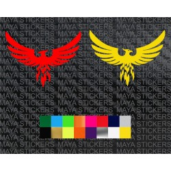Phoenix bird decal sticker for cars, bikes, laptops