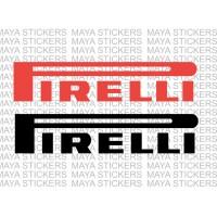 Pirelli logo stickers ( Pair of 2 stickers )