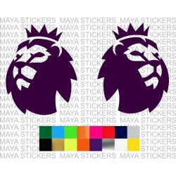 Premier league new lion head logo sticker ( Pair of 2 )