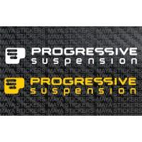 Progressive suspension logo decal stickers
