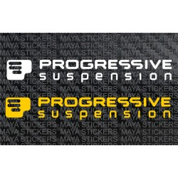 Progressive suspension logo decal stickers