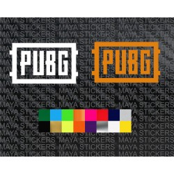 PUBG logo stickers in custom colors and sizes