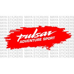 Pulsar adventure sport logo sticker for bike domes
