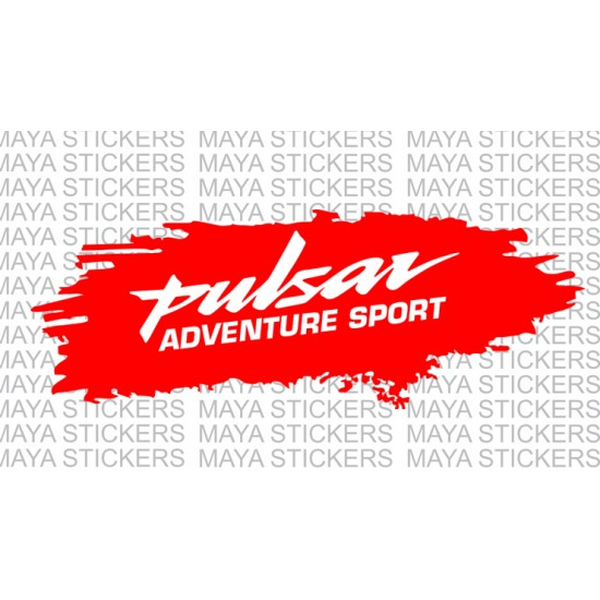 Bajaj Pulsar adventure sport stickers in dual color