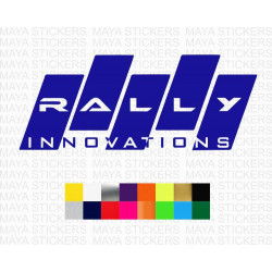 Rally Innovations logo stickers for cars