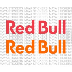 Red Bull text logo decal stickers ( Pair of 2)