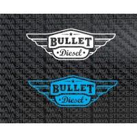 Bullet Diesel toolbox logo decal stickers ( Pair of 2 )