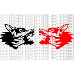 Angry Dog face decal sticker