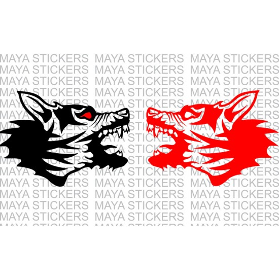 Angry Mad Dog Decal Sticker For Cars Bikes Laptops