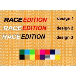 Race edition logo sticker for cars, helmets and motorcycles