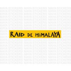 Raid De Himalaya logo stickers for cars and bikes