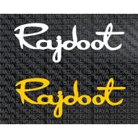Rajdoot logo decal stickers