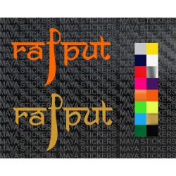 Rajput sword design decal sticker for cars, bikes, laptops