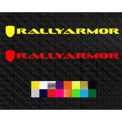 Rally armor mud flap  logo decal sticker for cars