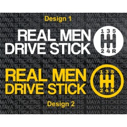 Real Men drive stick, Car bumper sticker