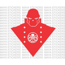 Red skull decal stickers for Cars, Laptops and Bikes