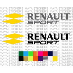 Renault sport racing logo decal stickers