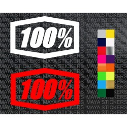 Ride 100% racing logo stickers for bikes, helmets, cars