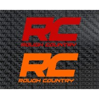 Rough country logo decal stickers