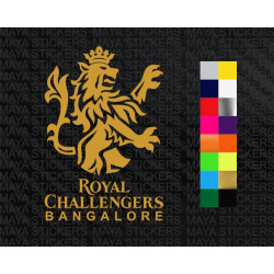 Royal challengers bangalore logo decal sticker for cars, laptops.