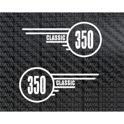 Royal Enfield Classic 350 toolbox logo sticker (Pair of 2 stikcers)