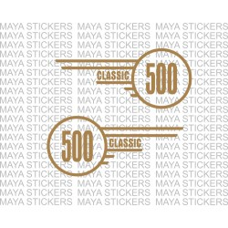 Classic 500 logo sticker for Royal Enfield tool box (pair of 2 stickers)
