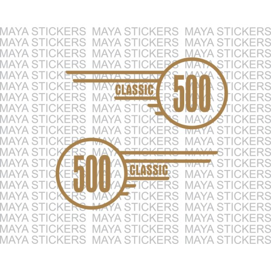 Classic 500 logo sticker for royal enfield tool box pair of 2 stickers