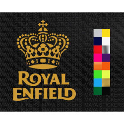 Royal Enfield crown design stickers for all RE motorcycles