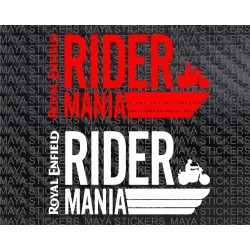 Royal Enfield Rider Mania logo stickers
