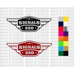 Royal Enfield Signals tool box logo sticker.