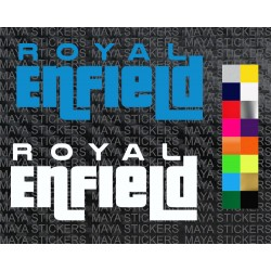 Royal Enfield logo sticker in GTA style font