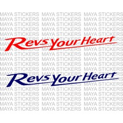 Revs your heart yamaha slogan decal stickers ( Pair of 2 )