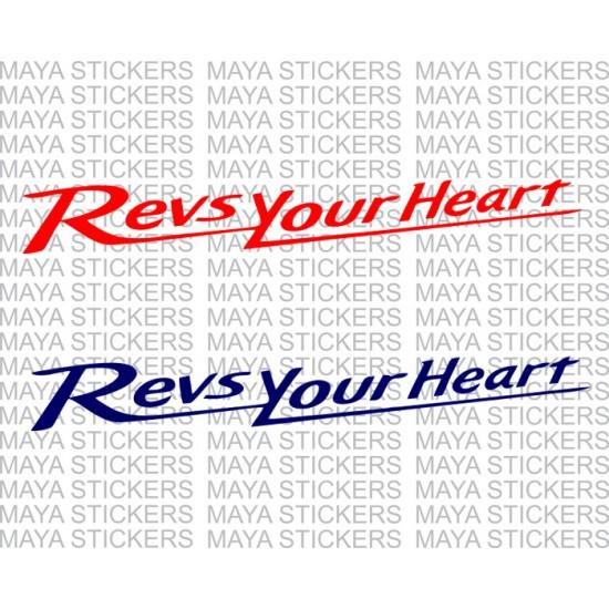 Pink Yamaha Decal Heart Sticker