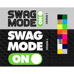 SWAG Mode ON decal stickers for cars, bikes, laptops