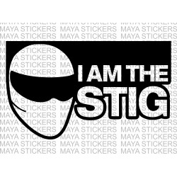 I am the Stig sticker for cars, bikes, laptop & Helmets