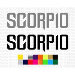 Scorpio logo sticker for Mahindra Scorpio