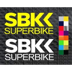 Superbike world championship logo sticker for motorcycles and helmets
