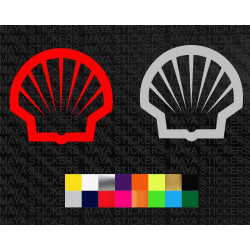Shell logo decal stickers for cars, bikes and helmets