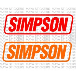 Simpson performance products logo stickers