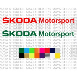 Skoda Motorsport logo sticker for cars, mobiles and others