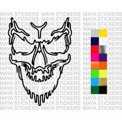 Skull sticker in Outline style for cars, bikes, laptops