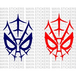 Spiderman mask decal stickers (pair of 2)