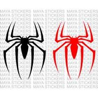 Spider logo sticker sticker from Spiderman movie (Pair of 2)